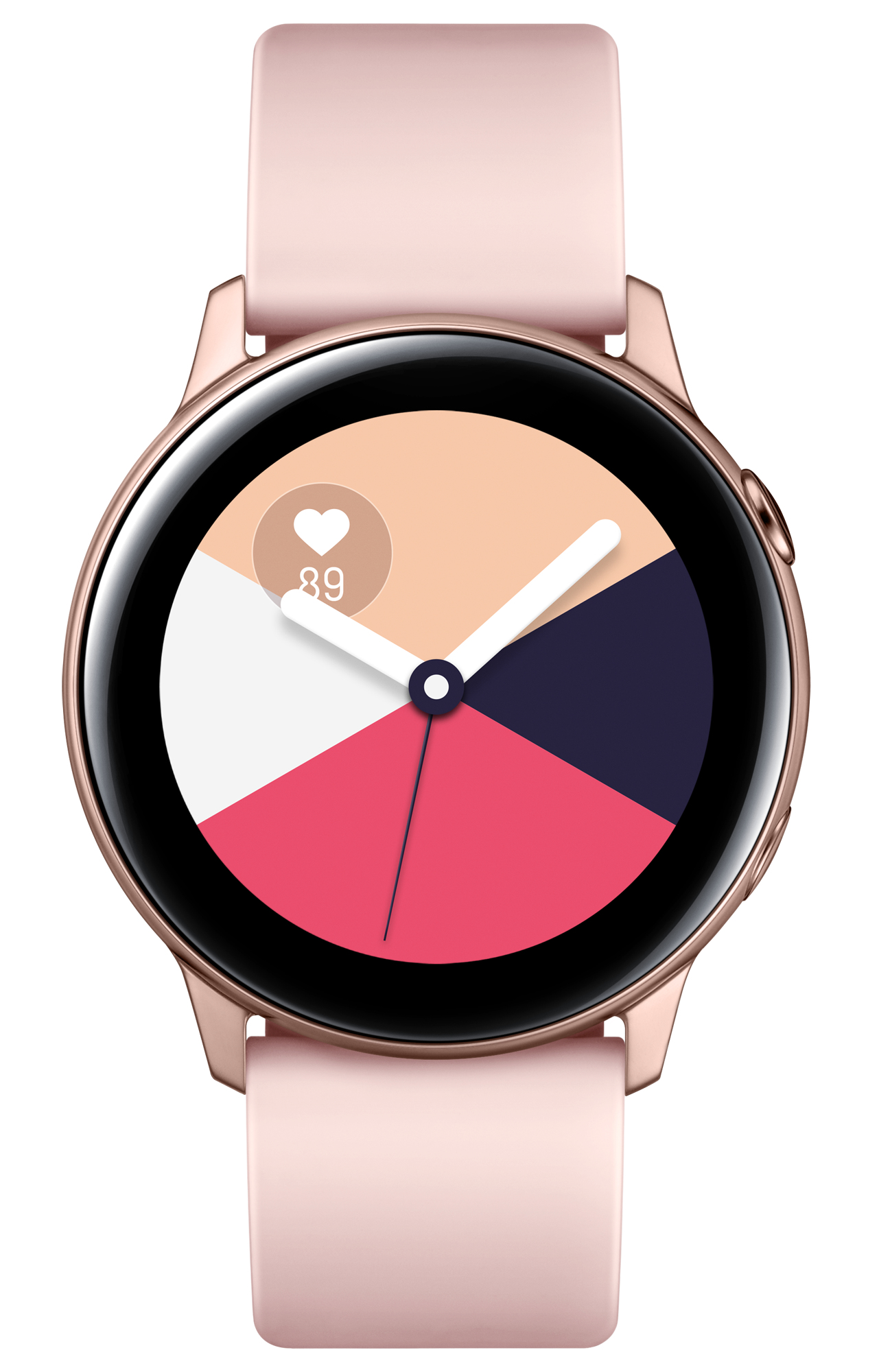 """Samsung Galaxy Watch Active - Rose gold - smart watch with band - fluoroelastomer - display 1.1"""" - 4"""