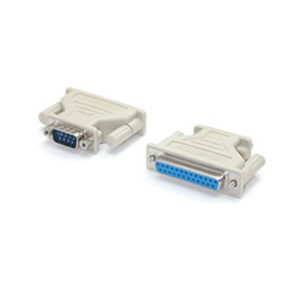 StarTech.com Adapter DB9M - DB25F Beige