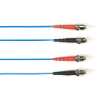 """Black Box FOLZHM4-003M-STST-BL fiber optic cable 118.1"""" (3 m) LSZH OM4 ST Blue"""