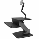 StarTech.com BNDSTSSLIM multimedia cart/stand Black Flat panel Multimedia stand