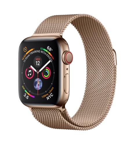 Apple Watch Series 4 smartwatch OLED Gold 4G GPS (satellite)