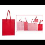 XMAS GIFT BAG XMAS MEDIUM 18X23.5X10.8CM ASSORT DESIGNS RED/WHITE(EACH)