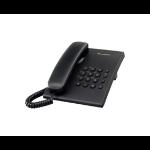 Panasonic KX-TS500 Analog telephone Identificador de llamadas Negro dir