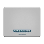 Man & Machine Silicone mouse pad White