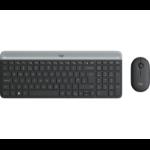 Logitech MK470 Slim Wireless Combo keyboard RF Wireless QWERTY Danish, Finnish, Norwegian, Swedish Graphite 920-009200