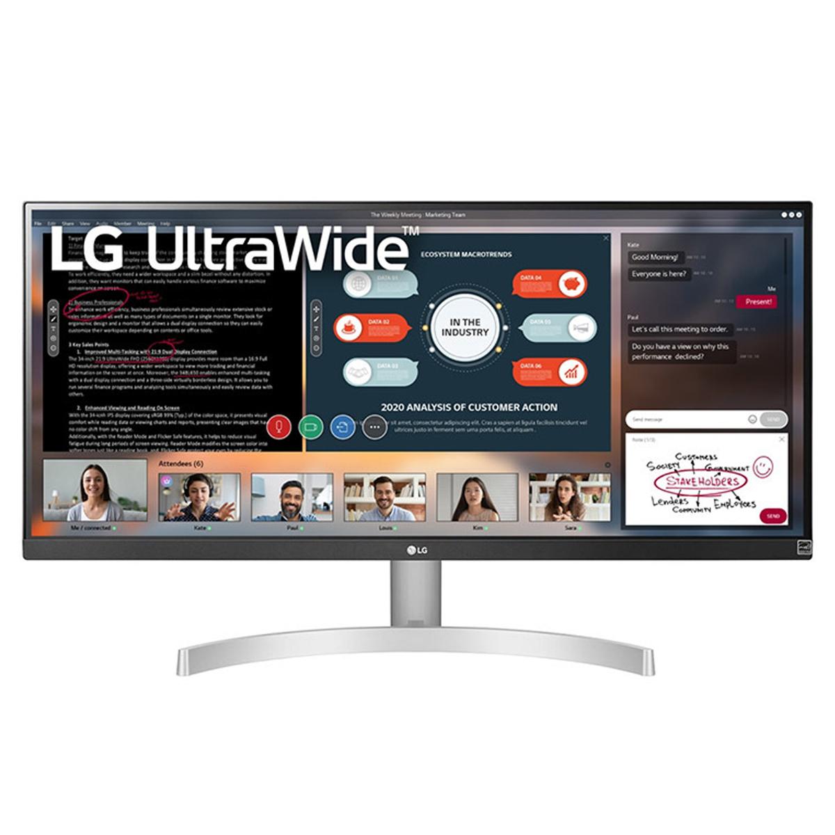 "LG 29WN600-W pantalla para PC 73,7 cm (29"") 2560 x 1080 Pixeles UltraWide Full HD LED Plata"