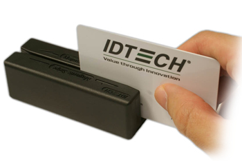 ID TECH MiniMagII magnetic card reader RS-232 Black