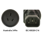 InLine AU to IEC 60320 C14 Power Plug Adapter