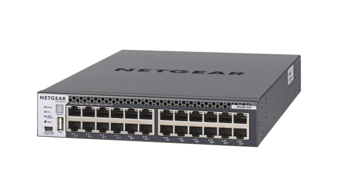 Netgear M4300-24X Managed L3 10G Ethernet (100/1000/10000) 1U Black
