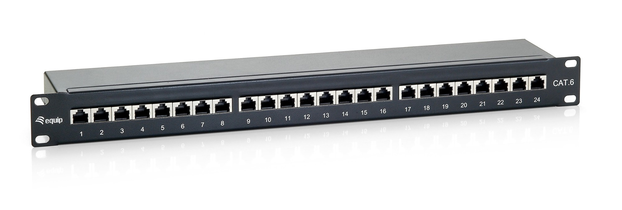 Equip 24-Port Cat.6 Shielded Patch Panel