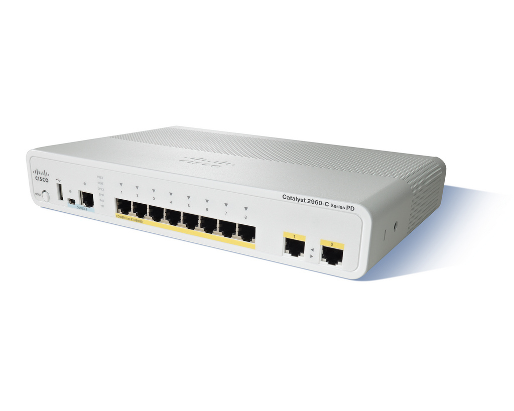 Cisco Catalyst WS-C2960CPD-8TT-L netwerk-switch Managed L2 Fast Ethernet (10/100) Wit