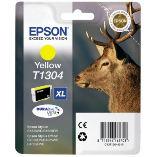 Epson C13T13044010 (T1304) Ink cartridge yellow, 1.01K pages, 10ml