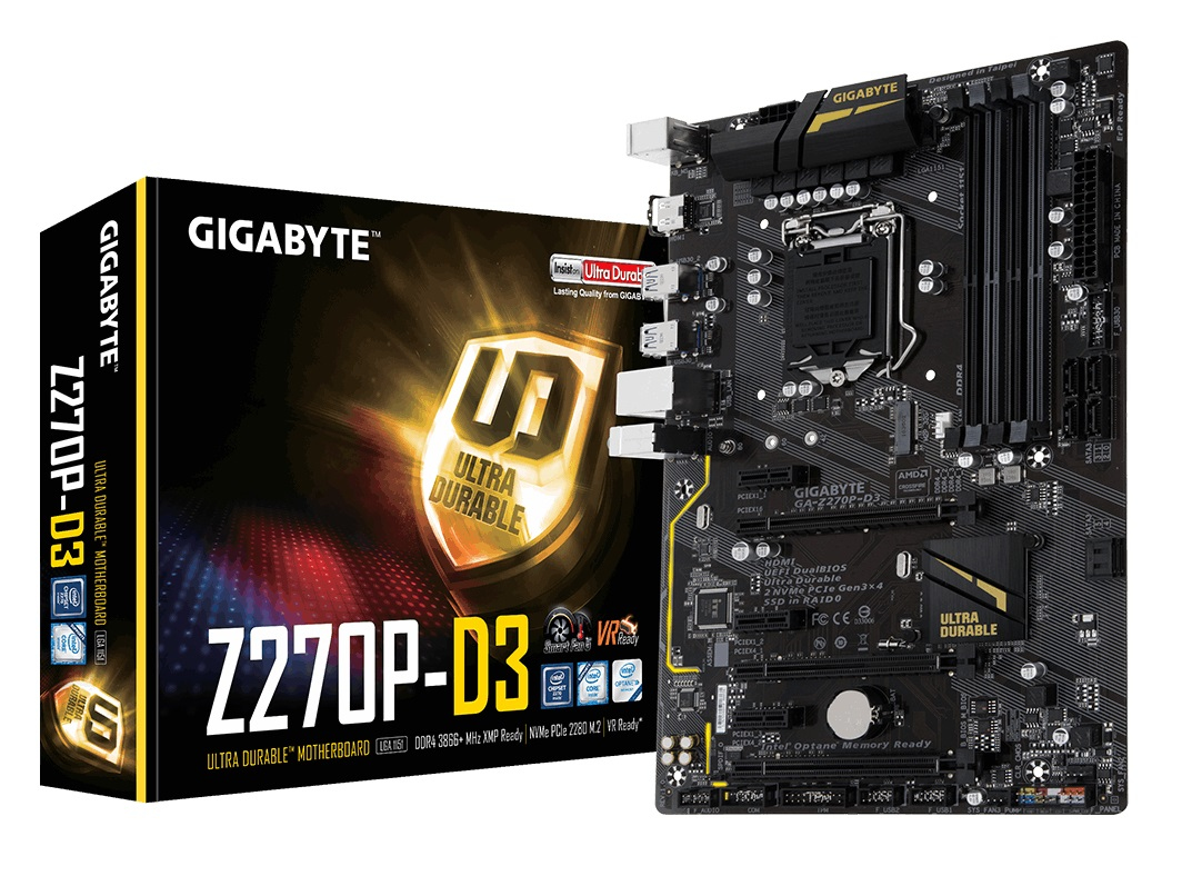 Gigabyte GA-Z270P-D3 motherboard ATX Intel® Z270