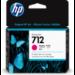 HP Cartucho de Tinta DesignJet 712 magenta de 29 ml