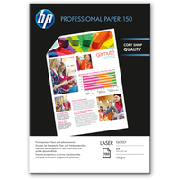 HP Professional Glossy Laser Paper 150 gsm-150 sht/A4/210 x 297 mm A4 (210×297 mm) Gloss White inkjet paper