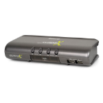 iogear MiniView Extreme Multimedia KVMP Switch w/Cables KVM switch Gray