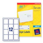 Avery Inkjet Addressing Labels White