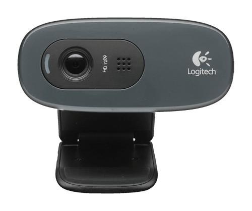 Logitech C270 webcam 3 MP 1280 x 720 pixels USB 2.0 Black, Grey