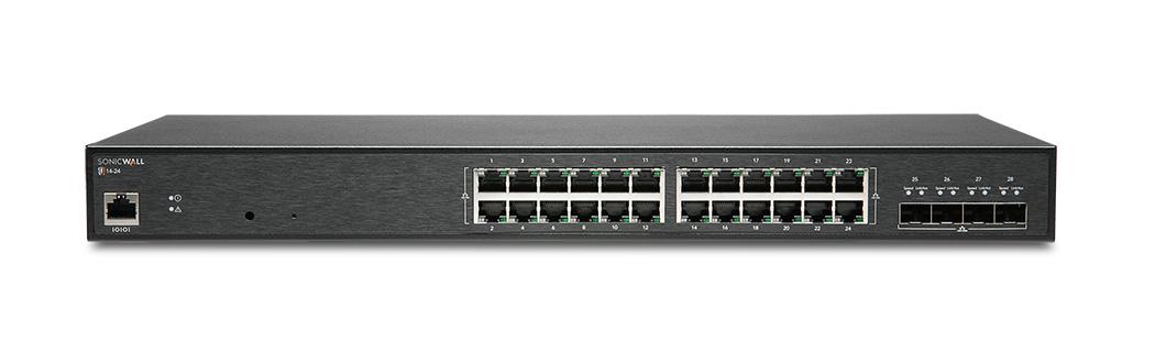SonicWall SWS14-24 Gestionado L2 Gigabit Ethernet (10/100/1000) Negro 1U