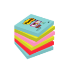 Post-It 654-6SS-MIA self-adhesive note paper Square Aqua colour,Lime,Pink,Red 90 sheets