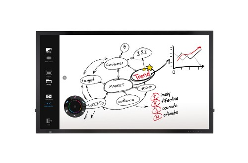 "LG 75TC3D interactive whiteboard 190.5 cm (75"") Touchscreen 3840 x 2160 pixels Black USB"