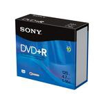 Sony 10DPR47R4 4.7GB DVD+R 10pcs Read/Write DVD