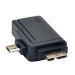 Tripp Lite 2-in-1 OTG Adapter, USB 3.0 Micro B Male and USB 2.0 Micro B Male to USB A Female
