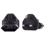 InLine EU 2 Pin to UK Plug Adapter