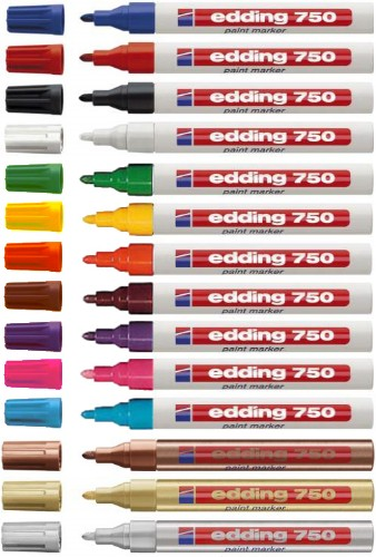 Edding 750 Silver 10 pc(s)