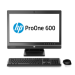 "HP ProOne 600 G1 54.6 cm (21.5"") 1920 x 1080 pixels 4th gen Intel® Core™ i5 4 GB DDR3-SDRAM 500 GB HDD Windows 7 Professional All-in-One PC Black, Silver"