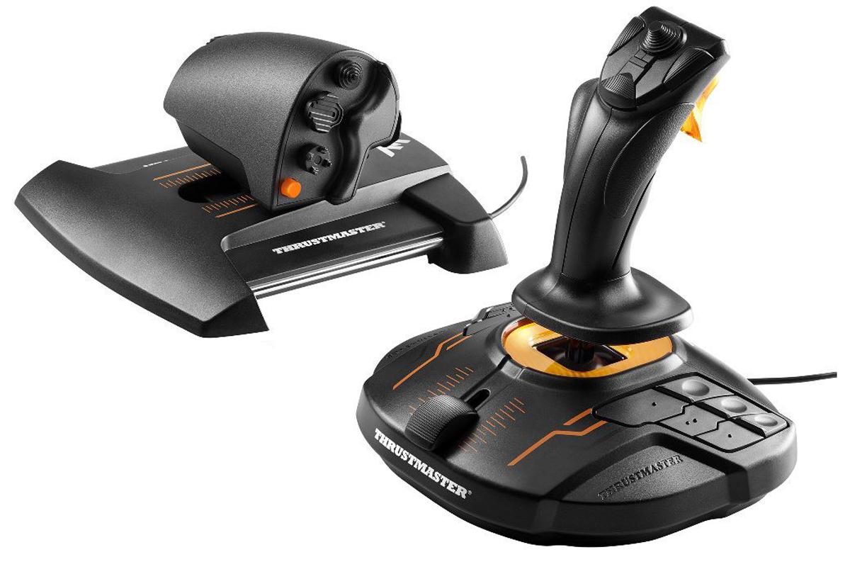 Thrustmaster T.16000M FCS Hotas Joystick Mac,PC Black,Orange