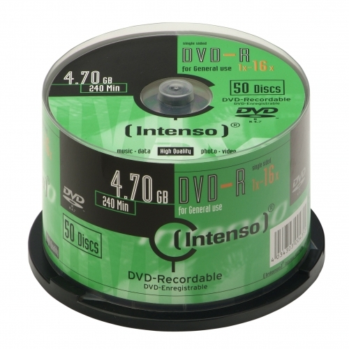 Intenso DVD-R 4.7GB, 16x 4.7GB DVD-R 50pc(s)