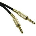 C2G 0.5m Pro-Audio 6.3mm Cable M/M audio cable 6.35mm Black