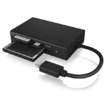 ICY BOX IB-CR401-C3 card reader Black USB 3.2 Gen 1 (3.1 Gen 1) Type-C