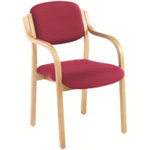 Jemini Claret Wood Frame Side Chair With Arms KF03515