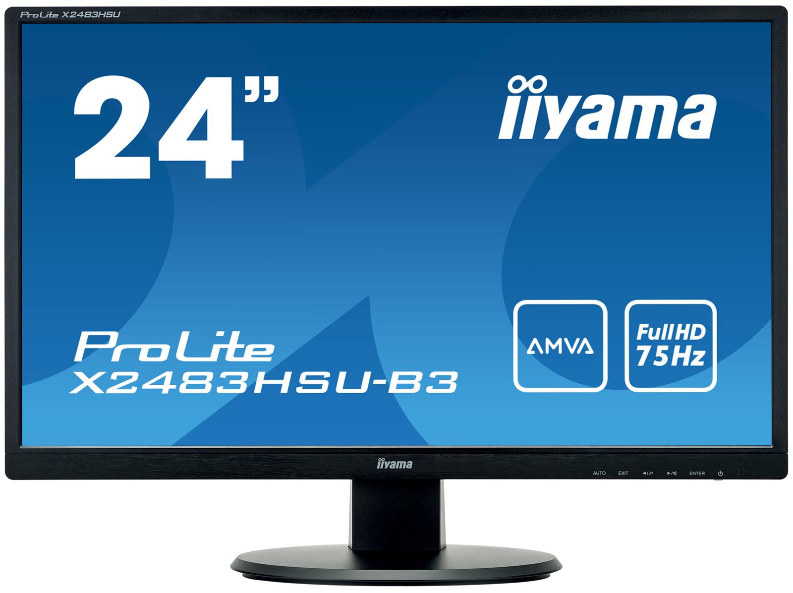 "iiyama ProLite X2483HSU-B3 23.8"" Full HD LED Matt Flat Black computer monitor LED display"