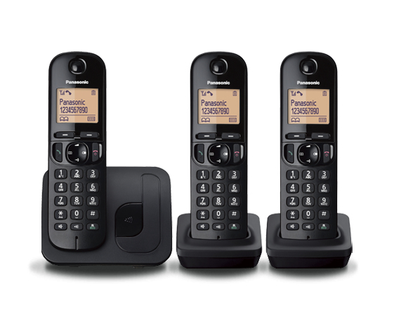 Cordless Dect Phone KX-TGC213EB with Call Blocking - Trio - Black
