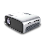 Philips NeoPix Easy 2+ data projector Portable projector LCD 720p (1280x720) Black, Silver