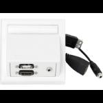 VivoLink WI221260 HDMI + USB A + 3.5mm White socket-outlet