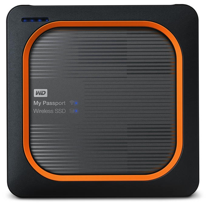 Western Digital My Passport 500 GB Wi-Fi Grey,Orange