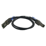 "QNAP CAB-SAS30M-8644-8088 Serial Attached SCSI (SAS) cable Black 39.4"" (1 m)"