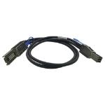 """QNAP CAB-SAS30M-8644-8088 Serial Attached SCSI (SAS) cable 39.4"""" (1 m) Black"""