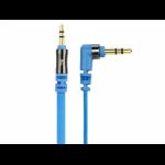 Scosche flatOUT 0.9m 3.5mm 3.5mm Blue mobile phone cable