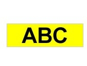 Brother Gloss Laminated Labelling Tape - 9mm, Black on Yellow label-making tape TZ