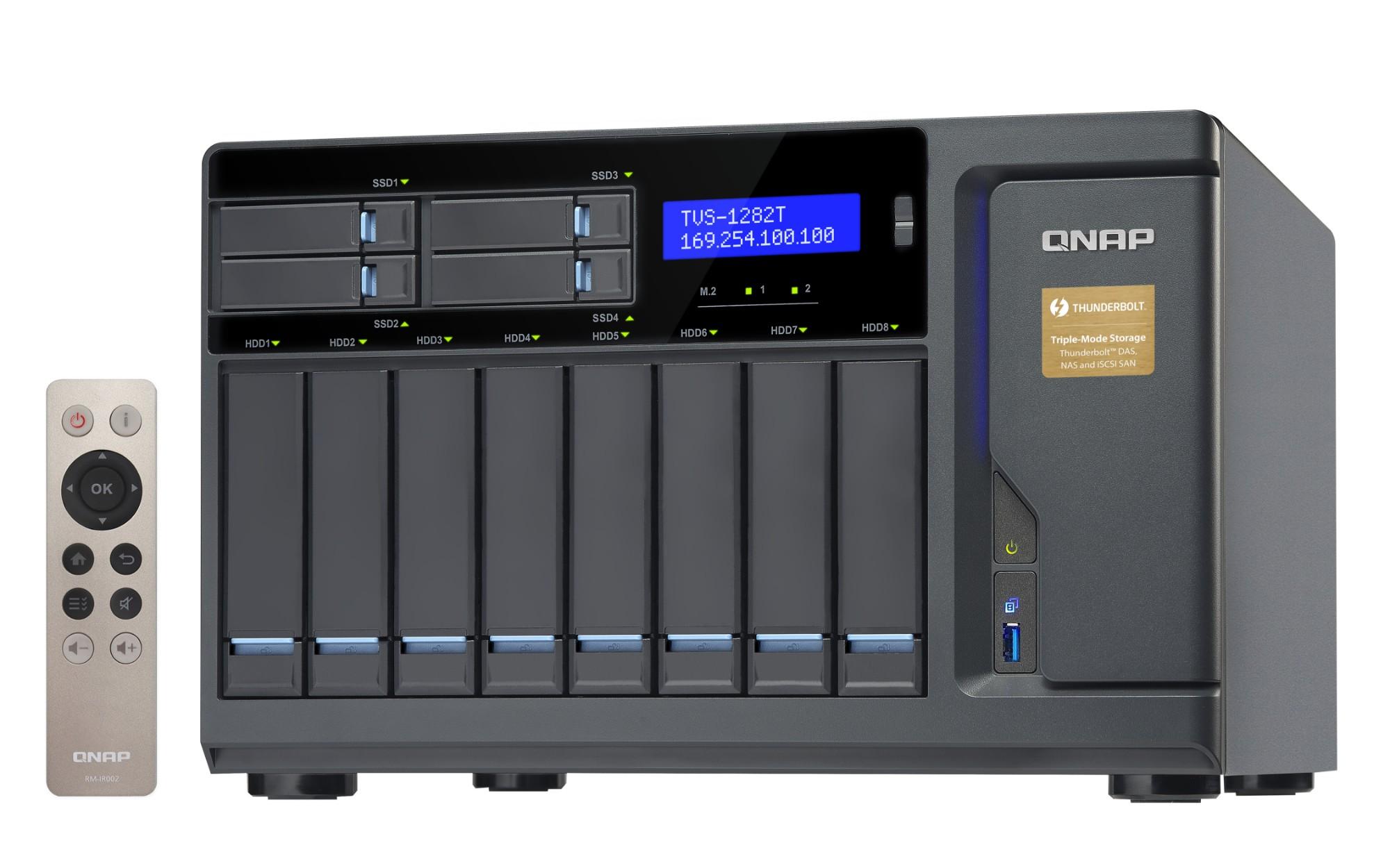 QNAP TVS-1282T NAS Tower Ethernet LAN Black