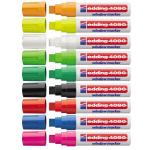Edding 4090 chalk marker Black, Green, Pink, Red, White 5 pc(s)