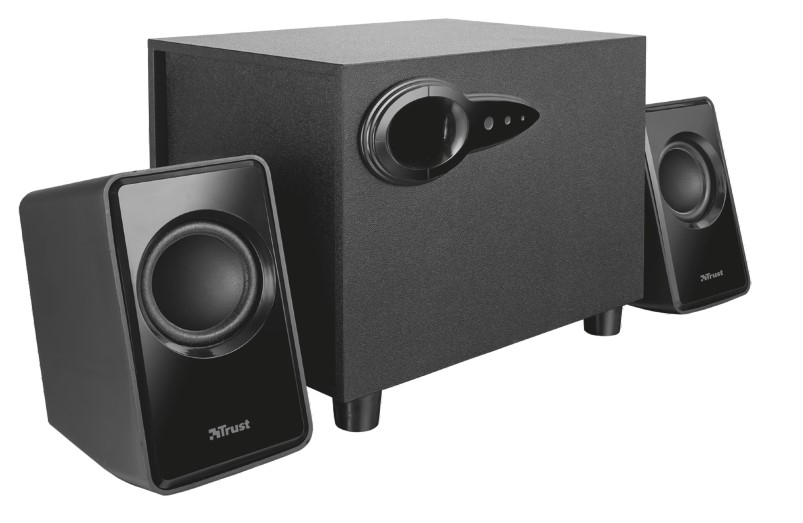 Trust Avora 2.1 2.1channels 9W Black speaker set