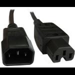 Origin Storage CAB-C14M-C15F-5M power cable Black C14 coupler C15 coupler