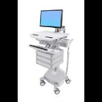 Ergotron StyleView White Flat panel Multimedia cart