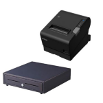 EPSON TM-T88VI-241 Thermal Receipt Printer Built-in Ethernet, USB, Serial, With PSU,  bundled with EC-410